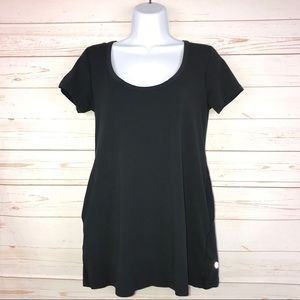 lululemon Black Scoop Neck Tunic Tee with Pockets